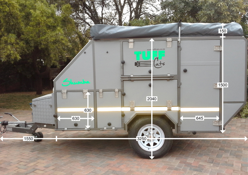 Shumba Off-Road Caravan - Side Specifications