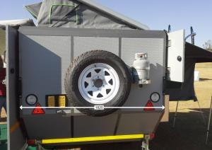 Shumba Off-Road Caravan - Back Specifications